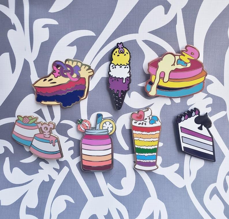 Pastry Pride Enamel Pins  Sets & Individual  Gay Pride Pin image 0