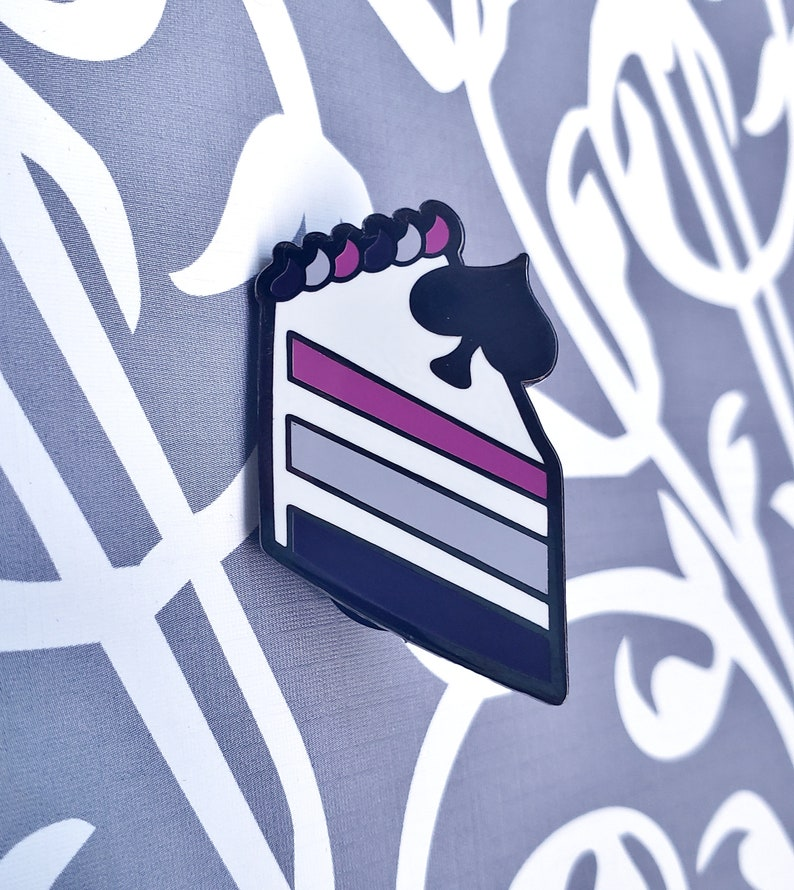 Asexual Pride Enamel Pin  Ace Cake Pin  Ace of Cakes Pin image 0