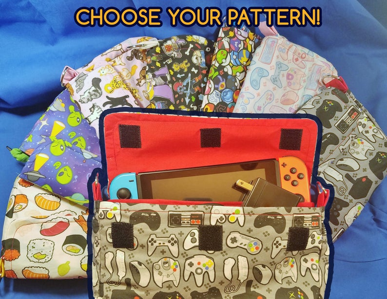 CHOOSE YOUR PATTERN Nintendo Switch Carrying Case  Made to image 0
