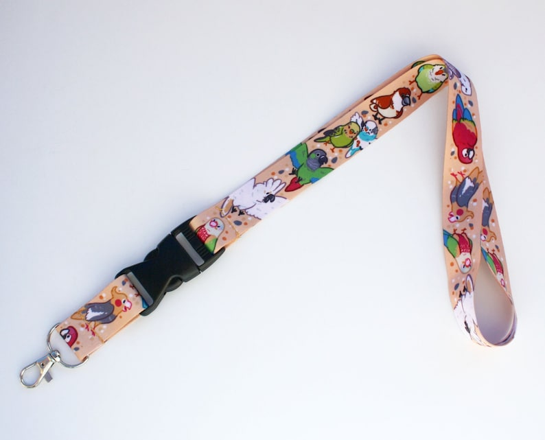 Pet Bird Lanyard ID Badge Holder  Lobster Clasp and Clip image 0