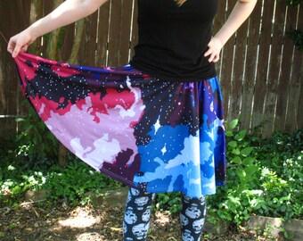 Pixel Galaxy Skater Skirt