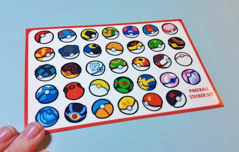 Pokeball Sticker Sheet image 0