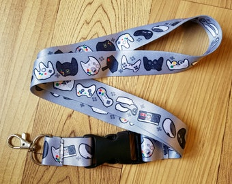 Game Controller Lanyard ID Badge Holder - Lobster Clasp and Clip