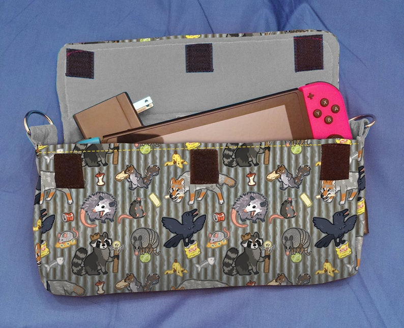 Trash Animals Pattern Nintendo Switch Carrying Case  Made to image 0