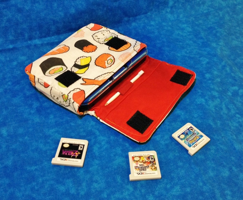 Sushi 3DS / 3DS XL / New 3DS Carrying Case  MADE to ORDER image 0