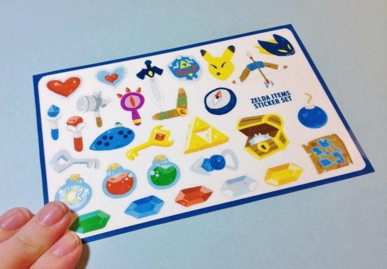 Legend of Zelda Sticker Sheets image 0