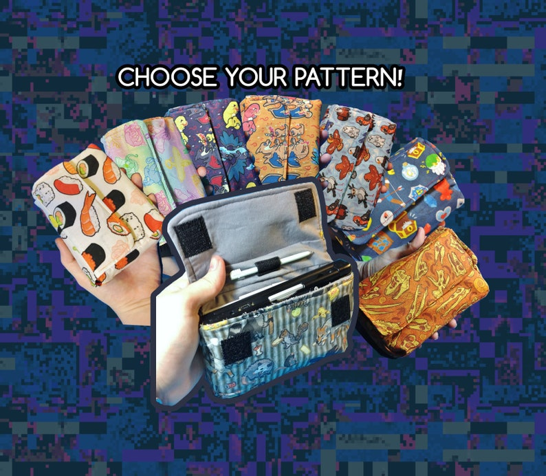 CHOOSE YOUR PATTERN Nintendo 3ds / 3ds Xl / New 3ds Carrying image 0