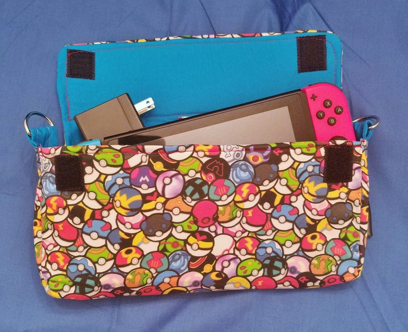 Pokeball Pattern Nintendo Switch Carrying Case  Made to Order image 0