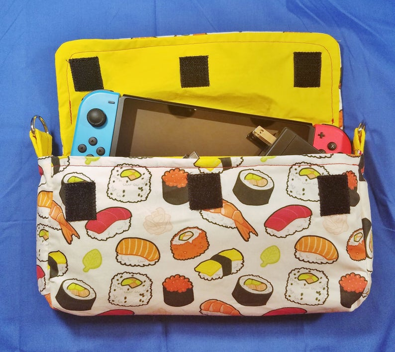 Sushi Pattern Nintendo Switch Carrying Case  Made to Order image 0