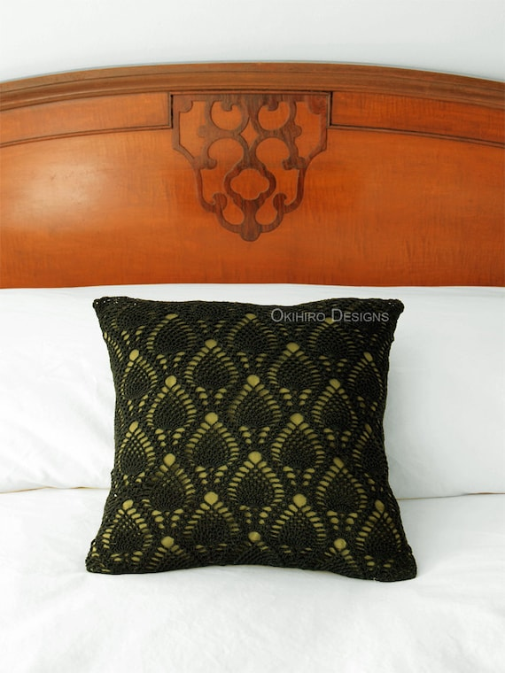 Patrón de piña 14 Crochet cuadrados almohada listo   Etsy