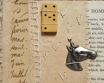 ART COLLAGE CARD gaming theme with horse head