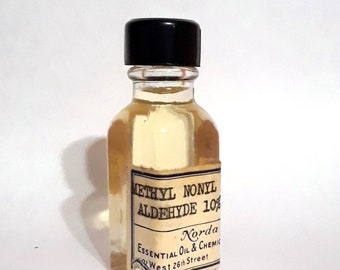Vintage 1930s 5ml Methyl Nonal Acetic Aldehyde - Aldehyde C12 MNA PERFUME BASE Amber Mossy Fragrance Creation Essential Oil Perfumery Making