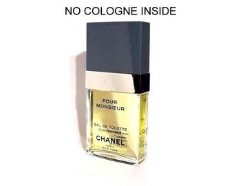 Vintage 1980s Chanel Pour Monsieur 2.5 oz Eau de Toilette Concentree Spray Cologne FACTICE DUMMY