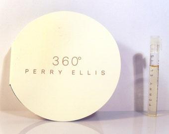 Vintage 1990s 360 for Women by Perry Ellis 0.05 oz Eau de Toilette Sample Vial on Card PERFUME