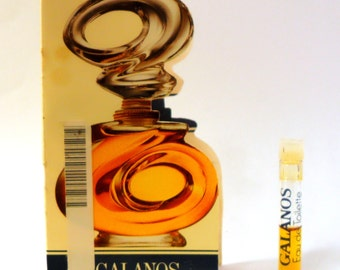 Vintage c1980s Galanos by Galanos 0.04 Eau de Toilette Sample Vial on Card