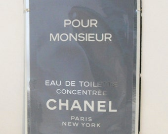 Vintage 1980s Chanel Pour Monsieur Eau de Toilette Concentree Sample Towelette COLOGNE