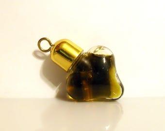 Vintage Perfume 1960s Aphrodisia by Faberge 0.05 oz Parfum Crystal Heart Pendant Mini Miniature DISCONTINUED