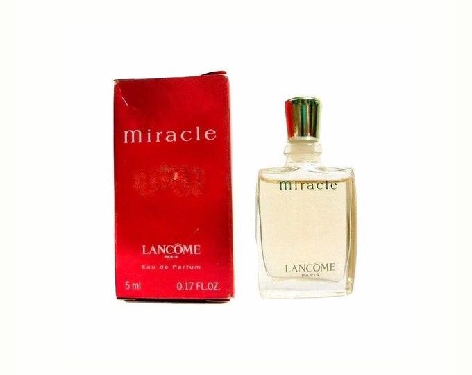 Vintage Miracle Perfume by Lancome 0.17 oz Eau de Parfum Mini Miniature and Box