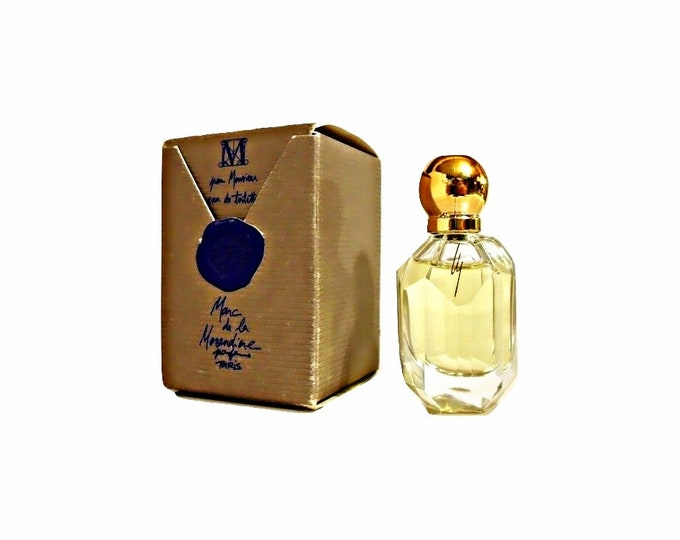 Vintage 1980s M pour Monsieur by Marc de la Morandiere 0.23 oz Eau de Toilette Mini Miniature Cologne and Box Original Formula