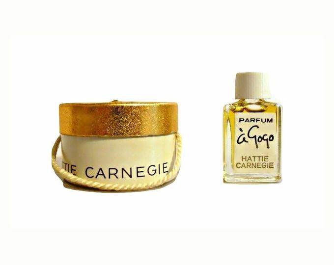 Vintage 1960s Hattie Carnegie A Gogo Parfum Mini Miniature in Hat Box PERFUME