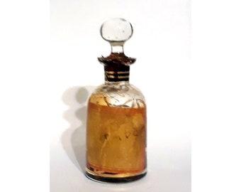 Antique Attar 1920s Ambar by Mohamed Ennifar 0.5 oz Pure Parfum Tincture Tunisia Perfume Ittar Czech Glass Bottle Ambergris Amber