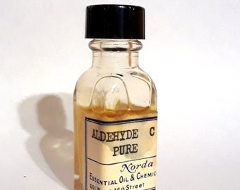 Vintage 1930s 5ml Aldehyde C8 Pure Octanal Aldehyde Waxy Green Citrus Essential Oil Perfumery Making