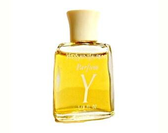 Vintage 1970s Y by Yves Saint Laurent 1/8 oz Pure Parfum Miniature Mini PERFUME
