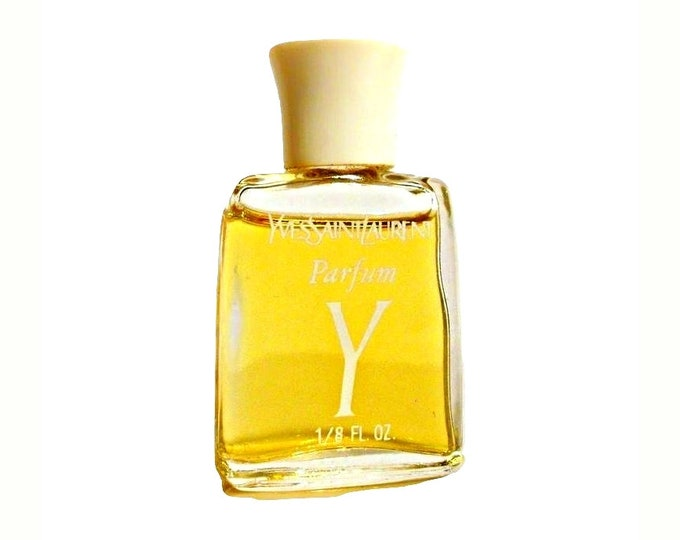 Vintage 1970s Y by Yves Saint Laurent 1/8 oz Pure Parfum Miniature Mini PERFUME