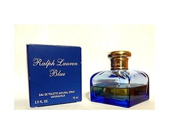 Ralph Lauren Blue by Ralph Lauren 2.5 oz Eau de Toilette Spray DISCONTINUED PERFUME