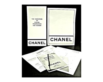 Vintage 1990s Chanel Beauty Advisors Promotional Kit for Egoiste Platinum Pour Homme & Other Men's Fragrances and Perfumes
