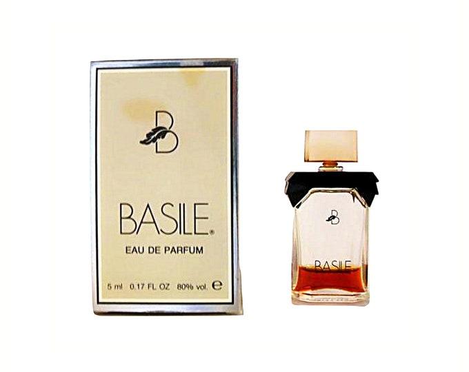 Vintage 1980s Basile by Basile 0.17 oz  Eau de Parfum Mini Miniature PERFUME
