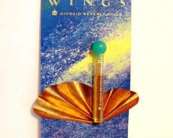Vintage 1990s Wings by Giorgio Beverly Hills 0.04 oz Eau de Toilette Sample Vial on Card PERFUME