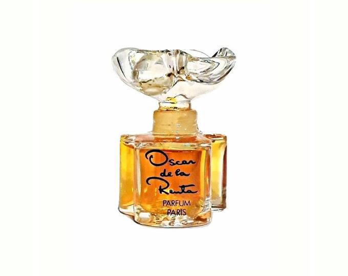 Vintage Perfume 1980s Oscar by Oscar de la Renta 0.5 oz (15ml) Pure Parfum Splash Crystal Flacon Original Formula