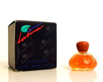 Vintage 1980s Latina By Parfums Paolo Conti  0.17 oz Eau de Toilette Mini Miniature and Box PERFUME