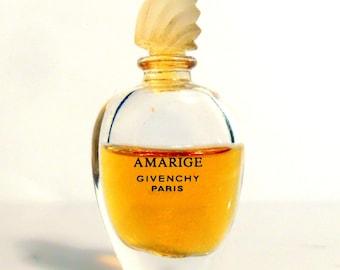 Vintage 1990s Amarige  0.13 oz Pure Parfum Miniature Mini Bottle PERFUME