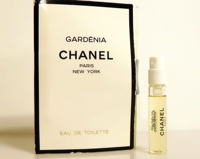 Vintage Gardenia by Chanel Eau de Toilette Spray Sample Vial on Card PERFUME