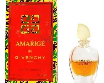 b3b0be1e2d Vintage 1990s Amarige 0.13 oz Eau de Toilette Miniature Mini Bottle with  Box PERFUME