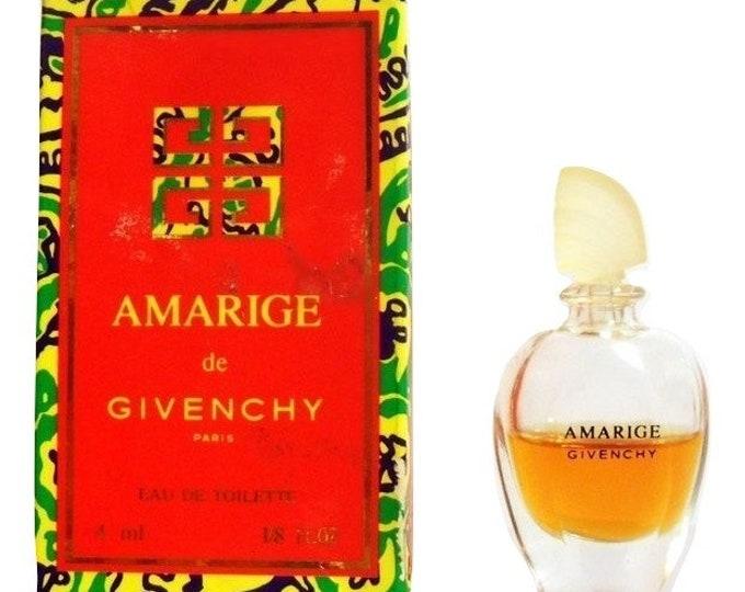 Vintage 1990s Amarige  0.13 oz Eau de Toilette Miniature Mini Bottle with Box PERFUME
