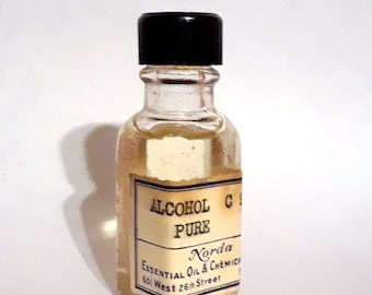 Vintage 1930s 5ml  Alcohol C9 Pure Nonanol Fatty Waxy Rose Fragrance Creation Essential Oil Perfumery Making