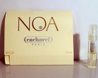 Vintage 1990s Noa by Cacharel 0.05 oz Eau de Toilette Spray Sample Vial on Card PERFUME