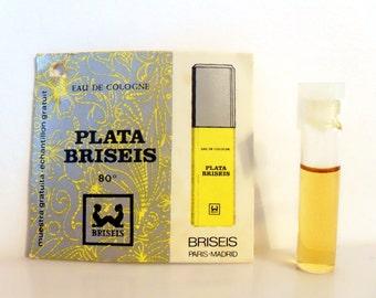 Vintage 1980s Plata Briseis by Briseis Eau de Cologne Colonia Sample Vial on Card PERFUME