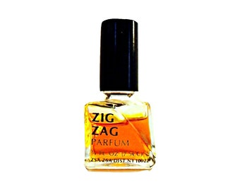 Vintage 1960s Zig Zag by Zsa Zsa Gabor 0.25 oz (7.5ml) Pure Parfum Splash PERFUME Bottle