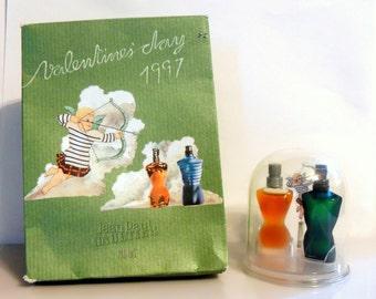Vintage 1990s Jean Paul Gaultier 1997 Valentine's Day Mini Miniature Limited Edition Set PERFUME