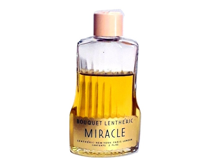 Vintage Miracle Perfume by Lentheric 2 oz Bouquet Lentheric Cologne Splash 1940s Discontinued