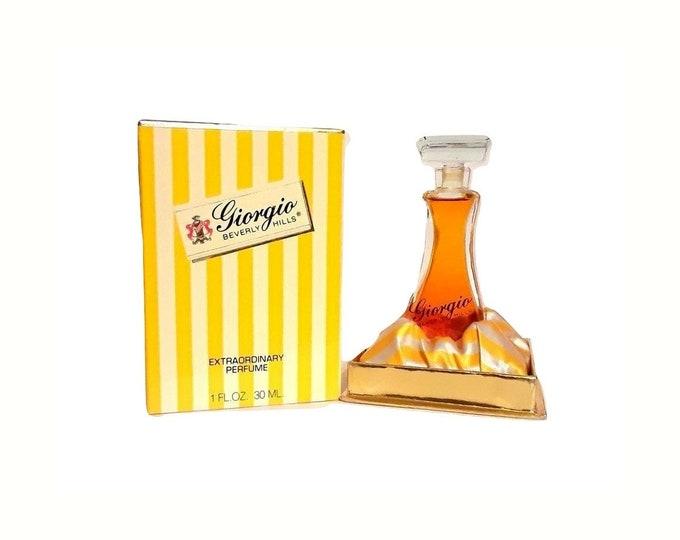 Vintage Giorgio Beverly Hills Perfume 1 oz (30ml) Pure Parfum and Box 1980s Formula