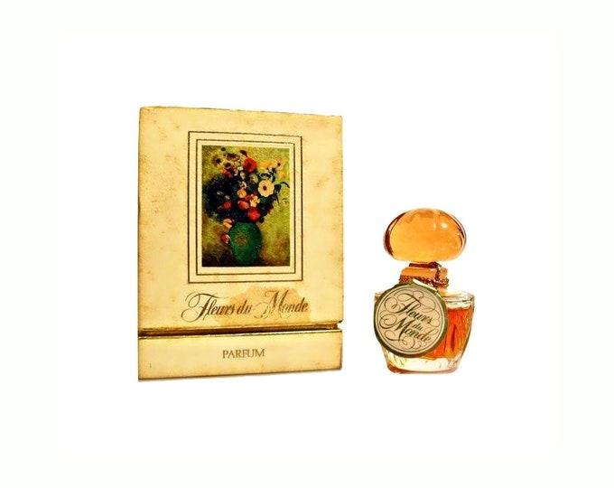 Vintage Perfume 1970s Fleurs du Monde by Faberge 0.25 oz (7.5ml) Pure Parfum and Box DISCONTINUED
