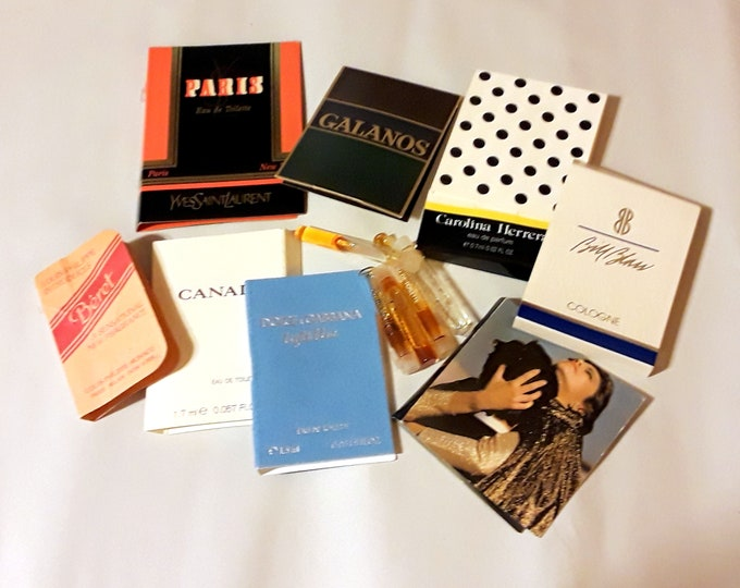 Vintage Perfume Sample Lot of 12 Assorted Brands Men's Women's Fragrance Samples