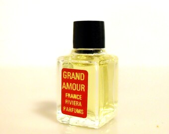 Vintage 1960s Grand Amour by France Riviera Parfums Micro Mini Perfume Miniature Parfum