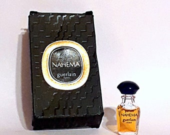 Vintage 1980s Nahema byPure Parfum Extrait 1 ml Micro Mini Miniature Bottle in Box PERFUME