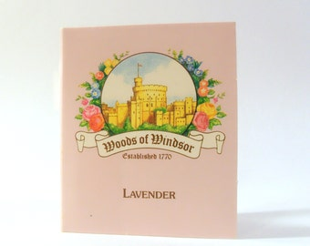 Vintage c1980s Lavender by Woods of Windsor 1 ml Eau de Toilette Sample Vial on Card